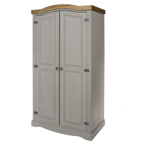 Premium Corona Grey Wash 2 Door Wardrobe